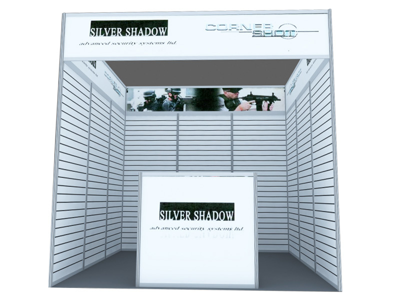 10*10ft flat wall exhibition booth