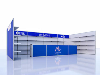 Official Sports goods booth for VNL
