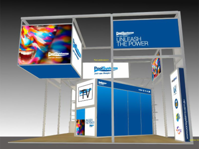 Shelf bracket tradeshow stand