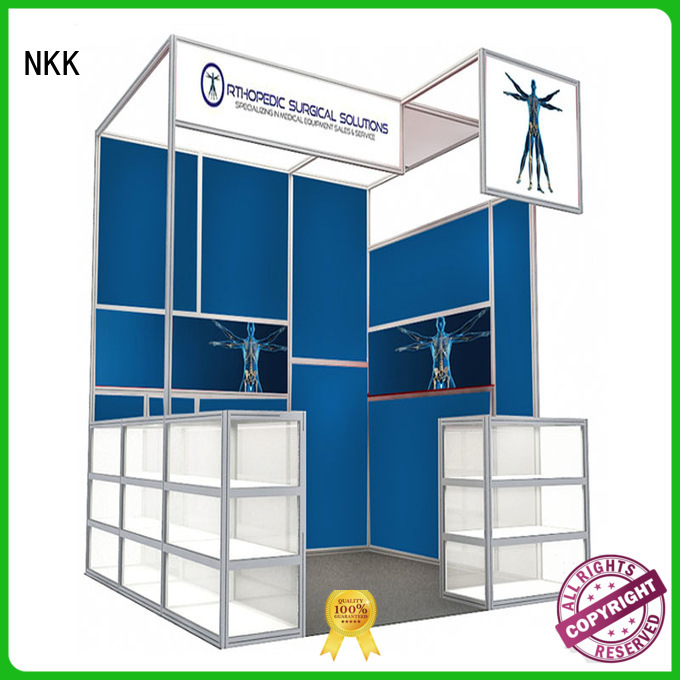 NKK custom booth supplier for trade display