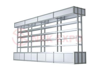 Customized aluminum frame green medical glass cabinet