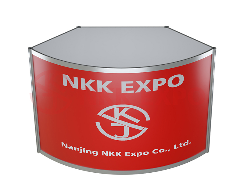 booth counter customized for trade fair NKK