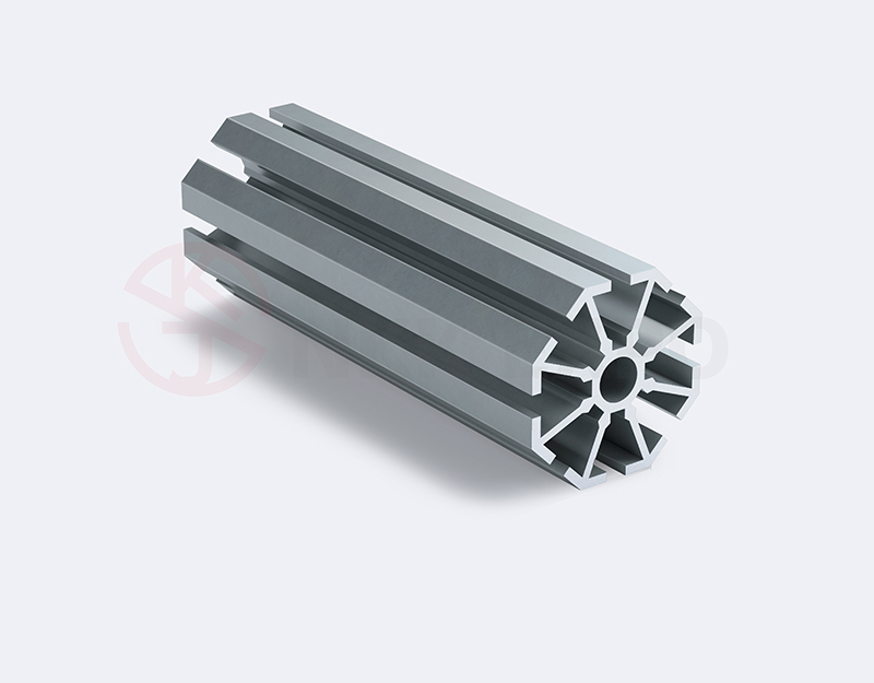 small hole upright extrusion exhibition slotted aluminium extrusion