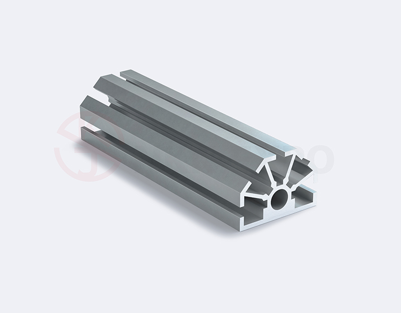 Half small hole upright extrusion trade fair aluminium slot profile