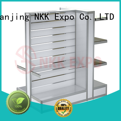 NKK glass exhibition furniture wholesale for trade display