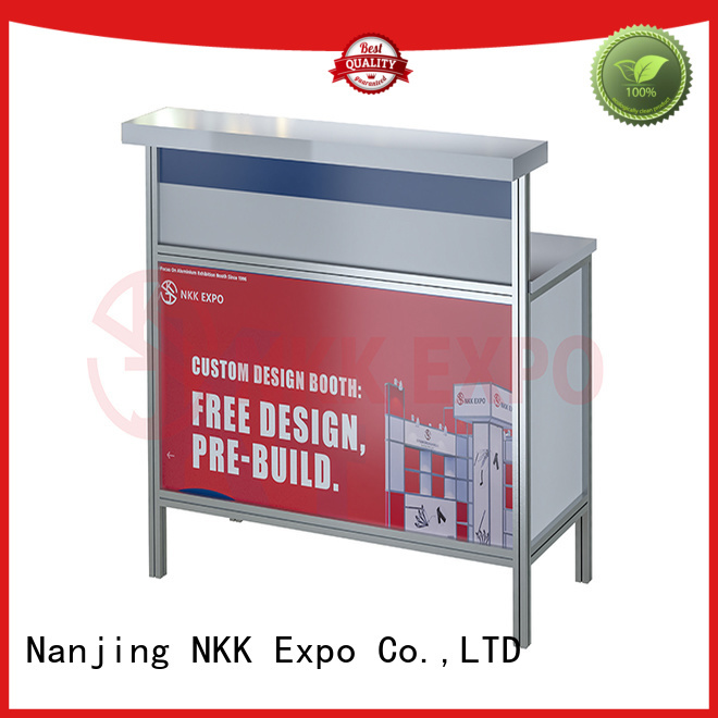 NKK glass exhibition furniture with good price for trade display