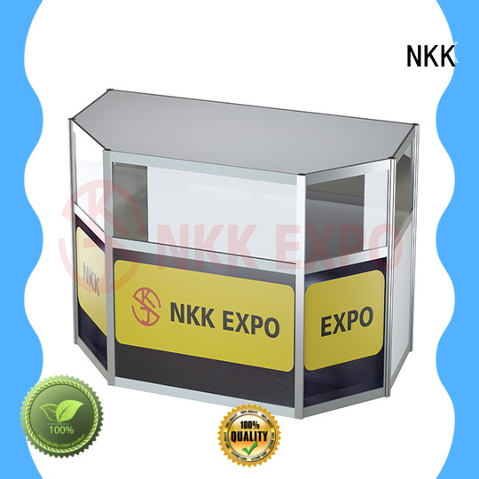 NKK glass trade show furniture supplier for trade display